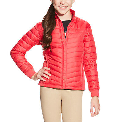 Ariat Voltaire Puffy Riding Jacket - Girls/Kids - Azalea Pink - Diff Sizes