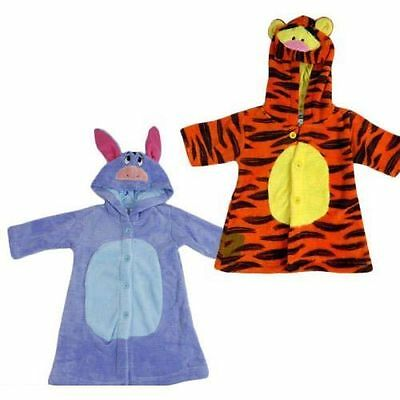 Disney Baby Winnie The Pooh Tigger And Eeyore Coral Fleece  Dressing Gown