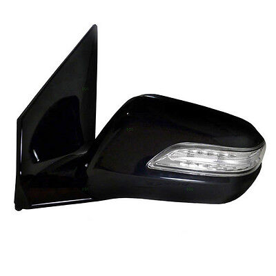 Black Power Heated Side View Mirror w/ Signal LH / FOR 07-09 ACURA MDX 2032039
