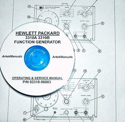 Hewlett Packard Operating & Service Manual for 3310A & 3310B Function Generators