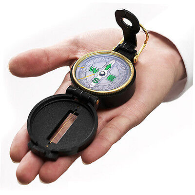 Pocket Outdoor Military Army Hiking Camping Lens Survival  Mini Black Compass SN