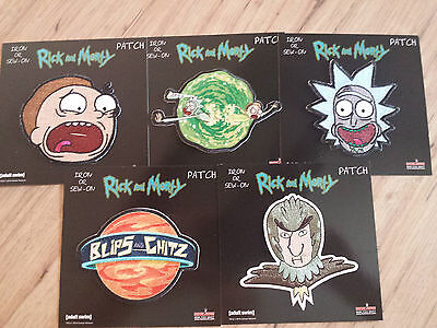 Rick And Morty All 5 Patches Adult Swim Funny Cartoon