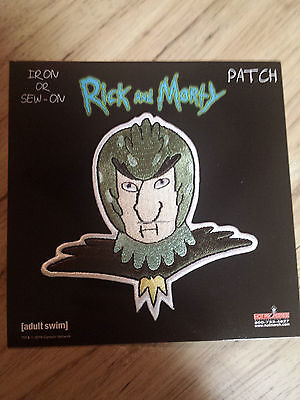 Rick And Morty Bird Person Patch Adult Swim Funny Cartoon
