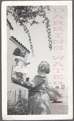 Vintage 1942 Photo Woman w/ Unusual Cute Girl Floating in Mid Air 698680