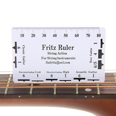 Guitar String Action Gauge Ruler Measuring Tools Electric Bass Luthier Acoustic