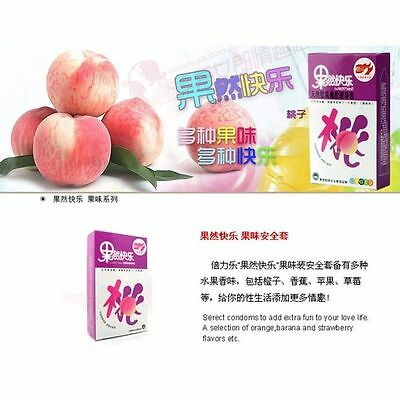 10 Pcs peach flavor Condoms Latex Double Lubricated make love New Security