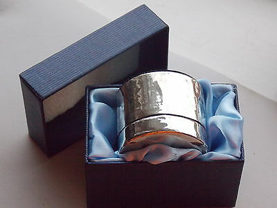 Interesting Fully Hallmarked Silver & Amethyst Encased Ring or Pill Box BNWT