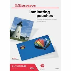 Office Depot Laminating Pouches 150 Micron A5 Clear Gloss - Pack of 100