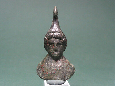 ANCIENT BUST OF ARES BRONZE 2nd CENTURY BC - 1st CENTURY AD