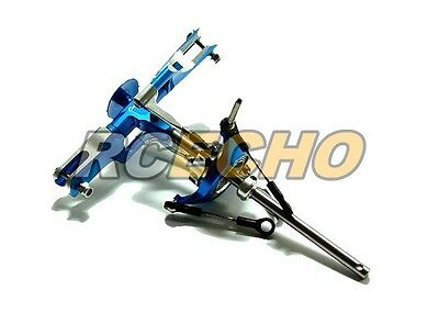 Flybarless Metal Blue 2 Blades Rotor Head for Align TREX 450 Helicopter RH550