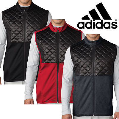 Adidas ClimaHeat Prime Fill Full Zip Golf Training Vest Quilted Thermal Gillet