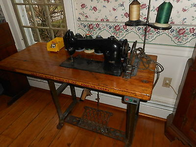 SIMANCO Singer 96-10 sewing machine HEAVY DUTY INDUSTRIAL AMERICAN TABLE