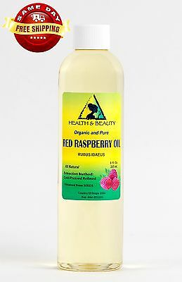 Red Raspberry Seed Oil Refined Organic Carrier Cold Pressed 100% Pure 8 Oz