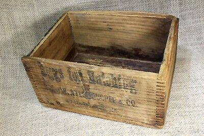 EGGS FOR HATCHING wood shipping crate box old vintage rustic ATLEE BURPEE & CO
