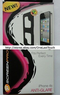 SCREEN PRO Protector for IPHONE 4/4S Perfect Fit ANTI-GLARE Preloaded Applicator