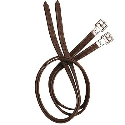 Prestige Lined English Stirrup Leathers - TOBACCO BROWN - All sizes in stock