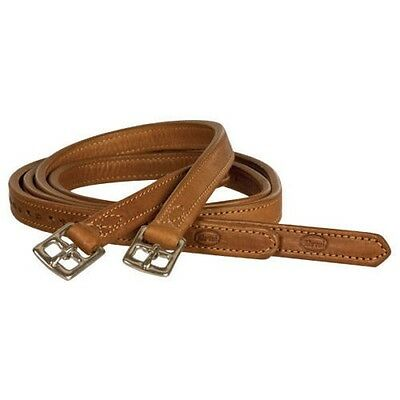 """BEVAL Gladstone Stirrup Leathers - Cognac Brown - 3/4"""" Width PICK YOUR LENGTH"""