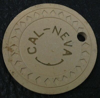 Cal-Neva $25 Casino Chip Lake Tahoe Nevada Diamond Mold 1945 FREE SHIPPING