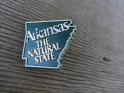 Arkansas The Natural State Plastic Clasp Back Pin Excellent No Reserve