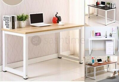 Livivo Home Office Desk Computer Workstation Console Table Wooden Metal Frame