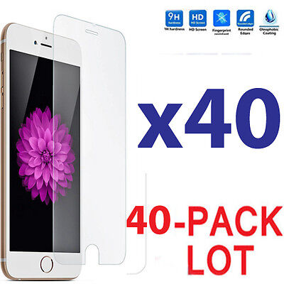 40x Wholesale Lot Tempered Glass Screen Protector for Apple iPhone 7
