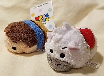 "Disney Tsum Flynn Rider + Maximus Horse from Tangled 3"" Plush Toys - NEW"