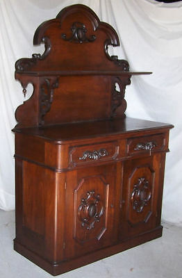 Antique Victorian Walnut Sideboard Server