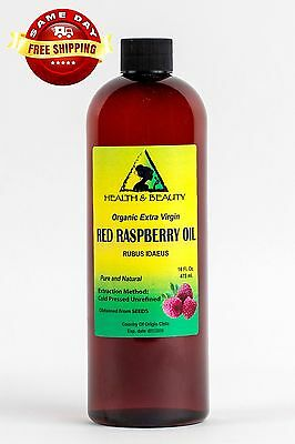 Red Raspberry Seed Oil Unrefined Organic Extra Virgin Cold Pressed Pure 16 Oz