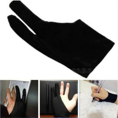 1pc Artist Drawing Two Finger Glove For Graphics Drawing Pen Tracing Pad Black W