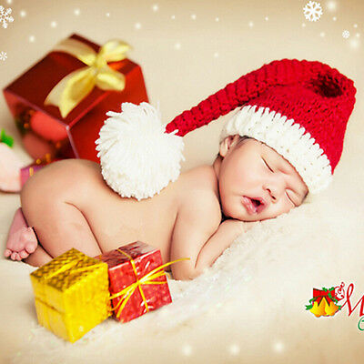 Baby Cute Hand-Knitted Hat Festive Christmas Hat Winter Hats Boys Girls Beanie