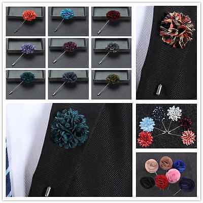 Hot Handmade Flower Daisy Boutonniere? Brooch Lapel Pin Accessories For Men's