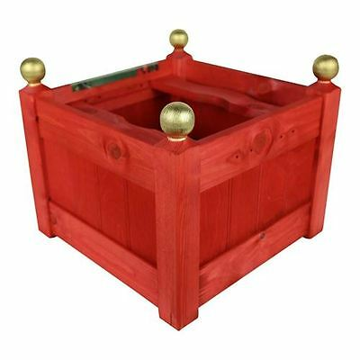 15'' Classic Wooden Red Christmas Tree Stand UK Made