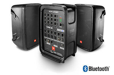 "JBL Eon208P 8"" 300W PA System with 8 channel mixer and bluetooth"