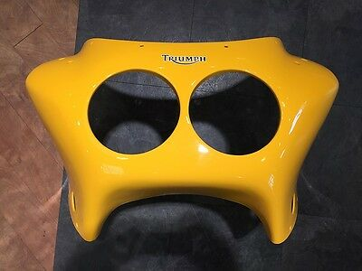 GENUINE Triumph Daytona 900 1200 Racing Yellow Nose Cone Fairing Front NEW