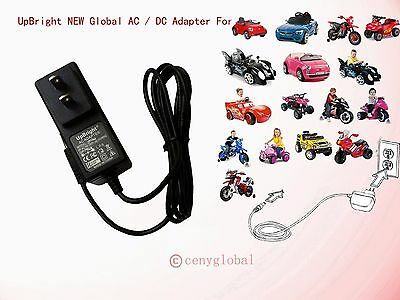 12V Circle Style AC Adapter Charger For Power Wheels Ride On Car 12 Volts Supply