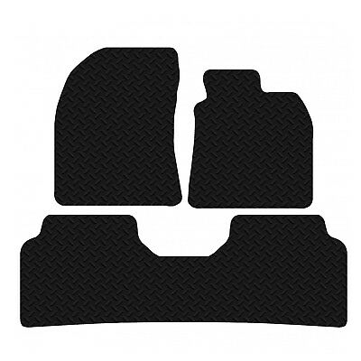 Toyota Avensis 2009 - 2011 Black Floor Rubber Tailored Car Mats 3mm 3pc Set