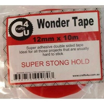 Wonder Tape Double-Sided 12mm x 10m STRONGEST Tape FREE SHIPPING