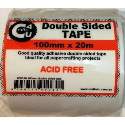 Crafts4U Double Sided Tape 100mm x 20m Roll FREE SHIPPING
