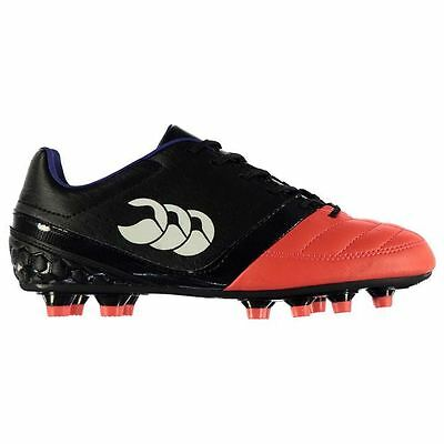 Canterbury Kids Phoenix Club FG Rugby Boots Junior Lace Up Shoes Sports Trainers
