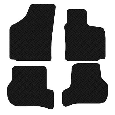 Seat Leon 2005 - 2009 Black Floor Rubber Fully Tailored Car Mats 3mm 4pc Set