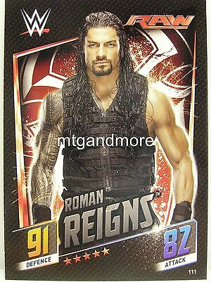 Slam Attax Then Now Forever - #111 Roman Reigns