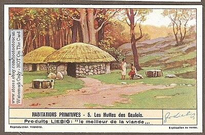 Ancient Gaul Gaulois Europe House Hut Huttes1930s Trade Card