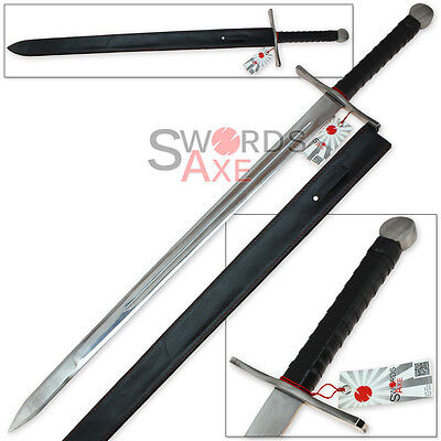 Two Handed Full Tang European Knightly Longsword - High Carbon Stainless Steel