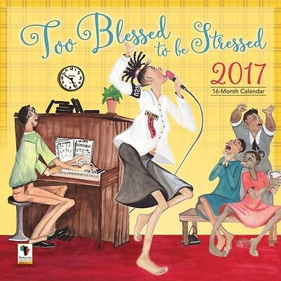 Too Blessed to be Stressed Wall Calendar