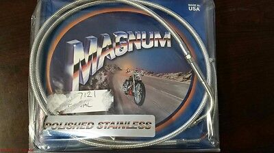 NOS Magnum 54214 Alternative Length Polished Stainless Idle Cable