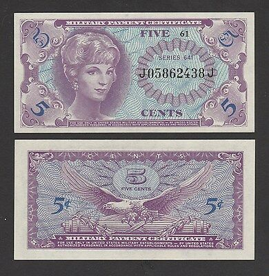 USA 5 Cents (1965-68) P-M57 Series 641 Military payment certificate - UNC