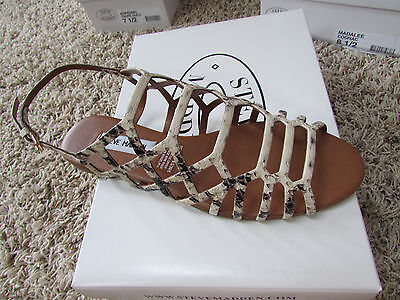 acc1b37359e5 New Steve Madden Serpa Strappy Sandals Womens 6.5 Natural Snake Free Ship