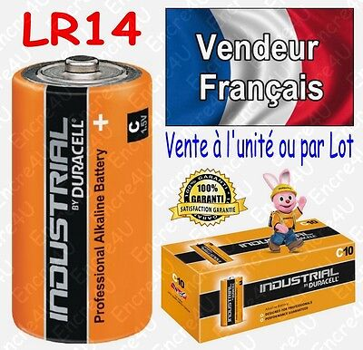 Piles LR14 C DURACELL INDUSTRIAL R14 MN1400 Alcaline x 1 2 4 6 8 10 20 30 40 50