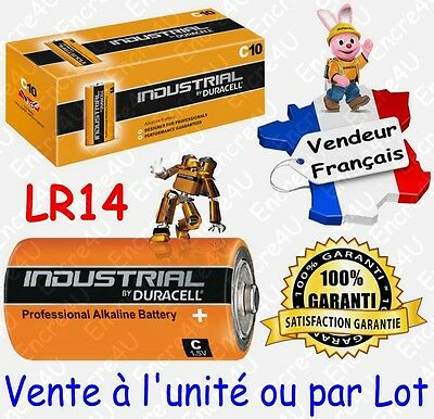 Piles LR14 R14 C DURACELL INDUSTRIAL MN1400 ( équivalent Alcaline PLUS POWER )