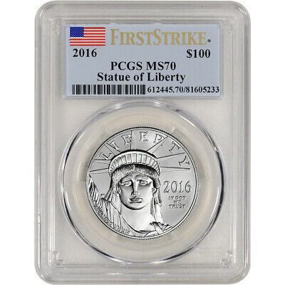 2016 American Platinum Eagle (1 oz) $100 - PCGS MS70 - First Strike